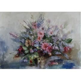 Obraz - Olejomaľba na plátne - Kvety vo váze - Igor Navrotskyi
