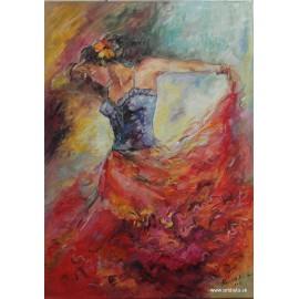 Ručne maľovaný obraz-Tanečnica