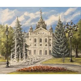 Obraz - akryl na plátne - Štátne divadlo - fontána - Baňas Matúš