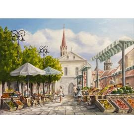 Obraz - akryl na plátne - Dominikánske námestie - Baňas Matúš
