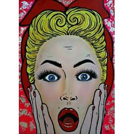 Obraz - Akryl - Pin up POP-ART - Bejdová Sára