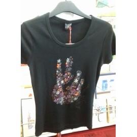 Maľovaný textil-M.Cadre-tričko Freedom