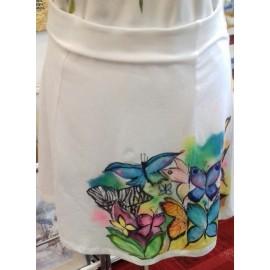 Maľovaný textil-M.Cadre-sukňa