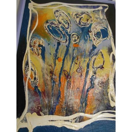Abstrakt - ručne maľovaný obraz