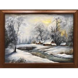 Obraz - Zima v lese