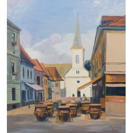 Obraz - Olejomaľba - Košice - Kalvínsky Kostol - Mgr. Art. Jaroslav Staviščák