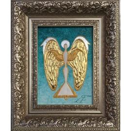 Obraz - Kombinovaná technika - Anjel zlatých snov - akad. mal. Alexander Jazykov