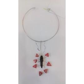 Prírodný tyrkys, perleť, striebro - náhrdelník, náušnice