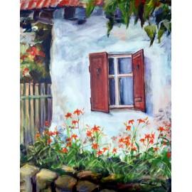Obraz - Akryl na plátne - Pod oknom - Mária Lenárdová