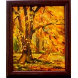 Obraz - Akryl na plátne - Zlatá jeseň - Mária Lenárdová