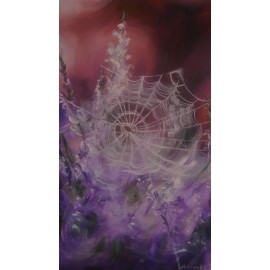 Obraz - Olejomaľba na plátne -Pavučina - Anna Hirková