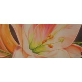 Obraz - Olejomaľba na plátne - Ľalia - trojobraz - Anna Hirková
