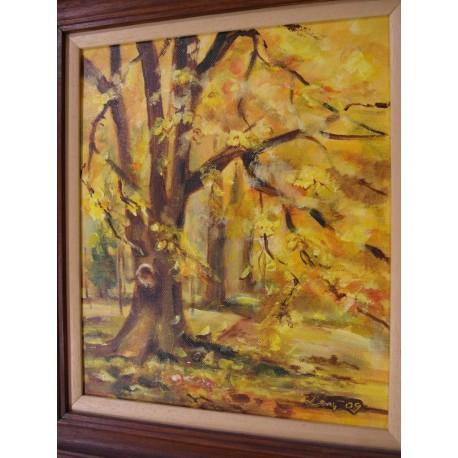 Zlatá jeseň - ručne maľovaný obraz