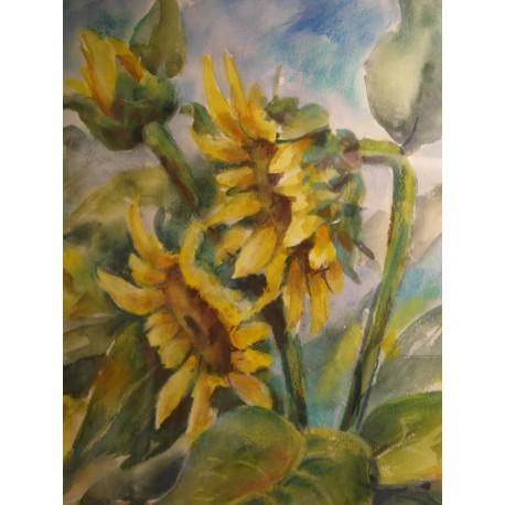 Slnečnice II. - ručne maľovaný obraz
