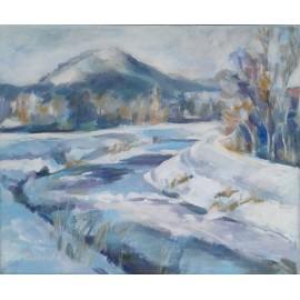Obraz - Akryl - Torysa v zime - Mgr. Margita Rešovská