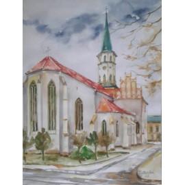 Obraz - Akvarel - Chrám sv. Jakuba v Levoči - Mgr. Margita Rešovská