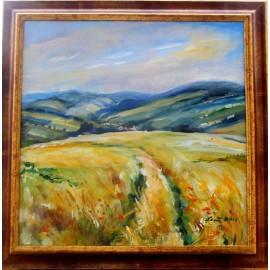 Obraz - Akryl na plátne - Letná krajinka - Mária Lenárdová