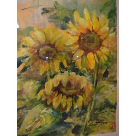 Slnečnice - ručne maľovaný obraz