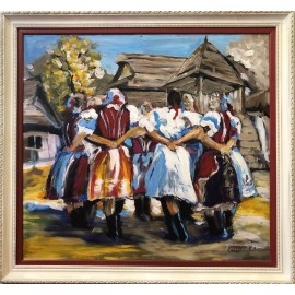 Obraz - Olejomaľba - Folklór - Peter Treciak