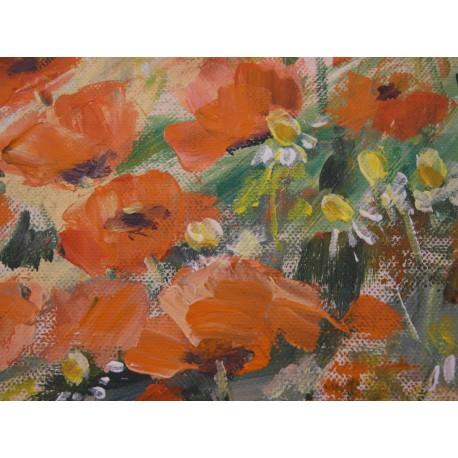 Letná romanca - ručne maľovaný obraz