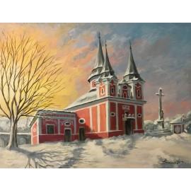 Obraz - Akryl na plátne - Kalvária - Zima - Baňas Matúš