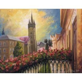 Obraz - Akryl na plátne - Z balkóna - Baňas Matúš