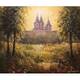 Obraz - Akryl na plátne - Kalvária - Jeseň - Baňas Matúš