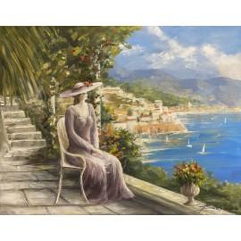 Obraz - Akryl na plátne - Dáma pri mori - Baňas Matúš