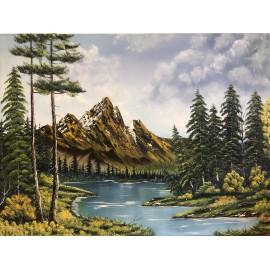 Obraz - Olejomaľba na plátne - Príroda XVIII. - Ján Lupčo