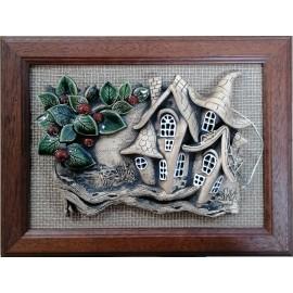 Keramika-Obraz v ráme- Mihoková