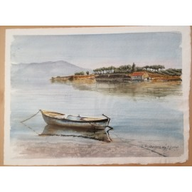 Obraz - akvarel - TOSKÁNSKO - Ján Radvanský