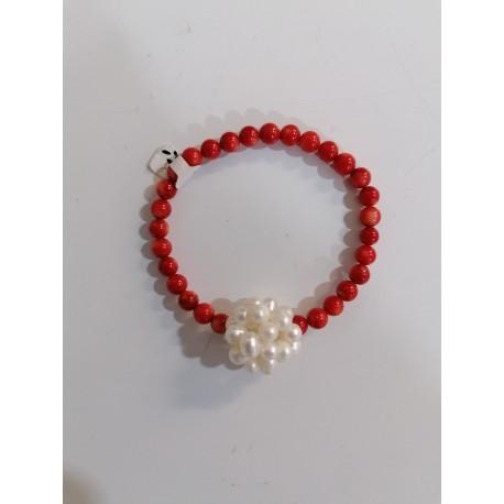 Korál a riečná perla, náramok