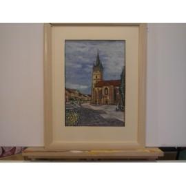 Obraz - Olejomaľba - Kostol - Miroslav Katuščák