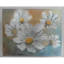 Obraz - Biela georgína, Kvety II. - Bc. Helena Vožňáková