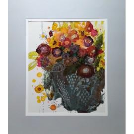 Obraz - Kvety v starej váze - Štecová Martina