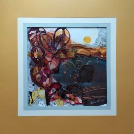 Obraz - Akvarel, Tuš - Vábenie letných vôní - Martina Štecová