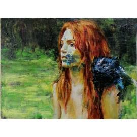 Obraz - Portrét dievčaťa s červenými vlasmi