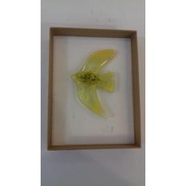 Brošňa - sklo, Akad. mal. Darina Kopková- Dizajnový sklenený šperk