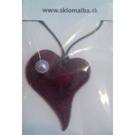 Sklenené šperky-Bujdošová-prívesok