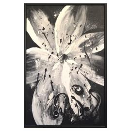 Biely kvet - ručne maľovaný obraz