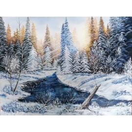 Obraz -Olejomaľba - Zima XVII. - Lupčo Ján
