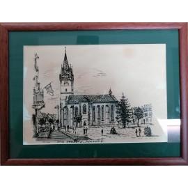 Obraz - Prešov, č.2- Perokresba tušom - Vladimír Semančík