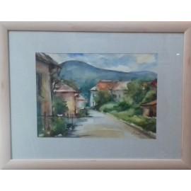 Obraz - Akvarel - Ťahanovce pri Košiciach č.122- Mária Lenárdová