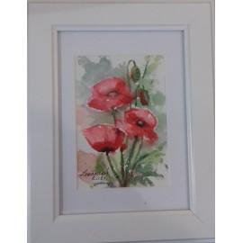 Obraz - Akvarel- Maky č.128- Mária Lenárdová