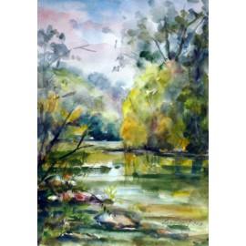 Obraz - Akvarel - Torysa - Mária Lenárdová