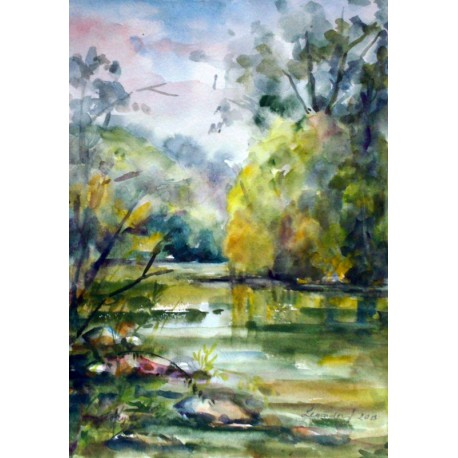 Akvarel, Torysa - ručne maľovaný obraz