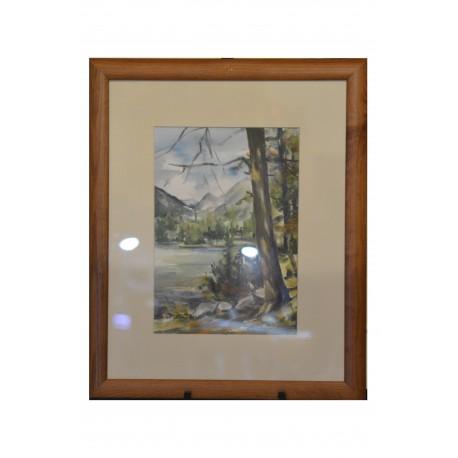 Akvarel, Tatry - ručne maľovaný obraz