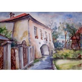 Obraz - Akvarel na výkrese - Floriánka - Mária Lenárdová