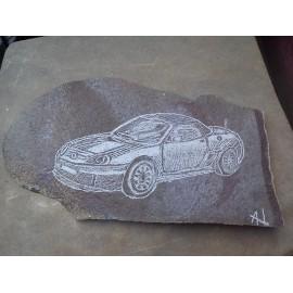 Kabriolet Peugeot - pyroxenický andezit - HRABČAK ANDREJ