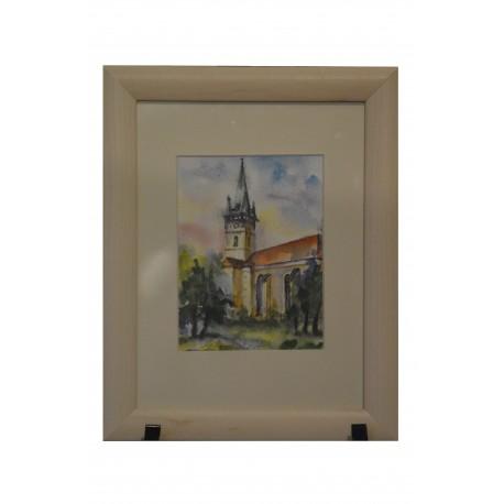 Akvarel, Prešov, Sv. Mikuláš - Leto - ručne maľovaný obraz